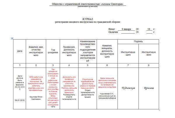 Образец журнала вводного инструктажа по электробезопасности удостоверение по электробезопасности в екатеринбурге