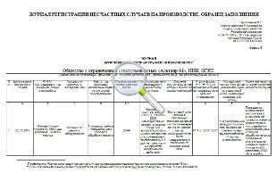 журнал регистрации использования аптечек первой помощи образец